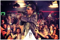 Wiz Khalifa wearing SUPER Flat Top Gold @ Club 79 Paris