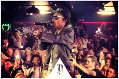Wiz Khalifa wearing SUPER Flat Top Gold @ Club 79 Paris